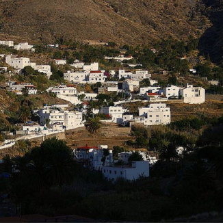 Belen, view of El Risco, Aussicht von El Risco de Arriba in Agaete, hameau canarien