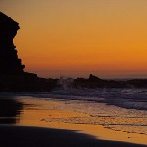 Playa de El Risco por Branko Lobo, la meilleure plage d'Agaete, Sonnenuntergang im Nordwest von Gran Canaria