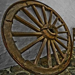 David Gutiérrez, maison de la Vallée d'Agaete, altes Rad im Tal von Agaete, ancient wheel in northern Gran Canaria