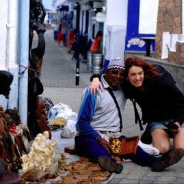 Eine Strasse in El Puerto de las Nieves, von Lidia Aparicio,