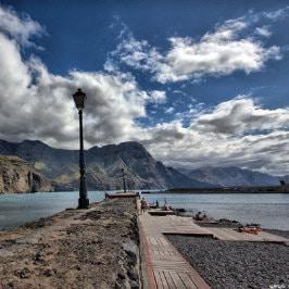 Lampadaire du quai d'El Puerto de las Nieves, par Sergio J. Gil Gil, Straßenlampe in Agaete, Streetlight at the pier von Agaete