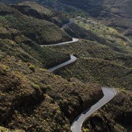 Katka Samková, la route du nord-ouest de Grande Canarie, road to El Risco de Agaete, die wunderschöne kürvige Strasse nach La Aldea, carretera de Agaete a Mogán