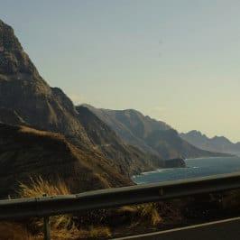 Matthias Ebert, Aussicht aus der La Aldea Strasse, carretera del noroeste de Gran Canaria, vue de la Queue du dragon, Dragon's tail from the road, Canary Islands