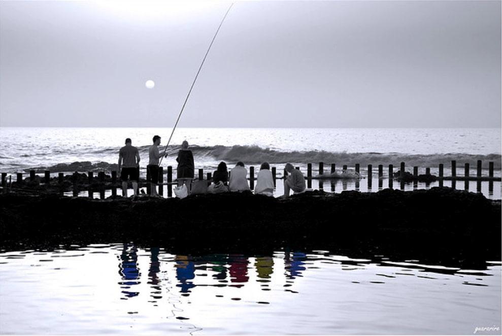 Calima en Las Salinas, por David Béjar, pêche à Agaete, digital detox in the Northwest of Gran Canaria, Entspannung auf den Kanaren