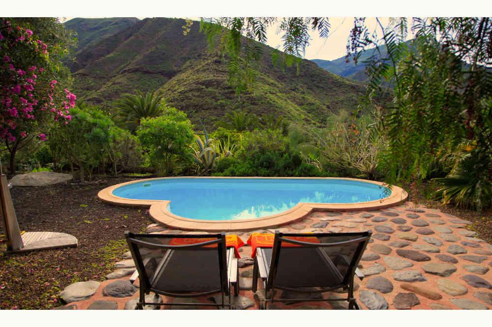 Piscine gite Agaete, parfaite pour nudisme, perfect setting for relaxing naturism in Gran Canaria, FKK-freundliche unterkunft auf den Kanaren