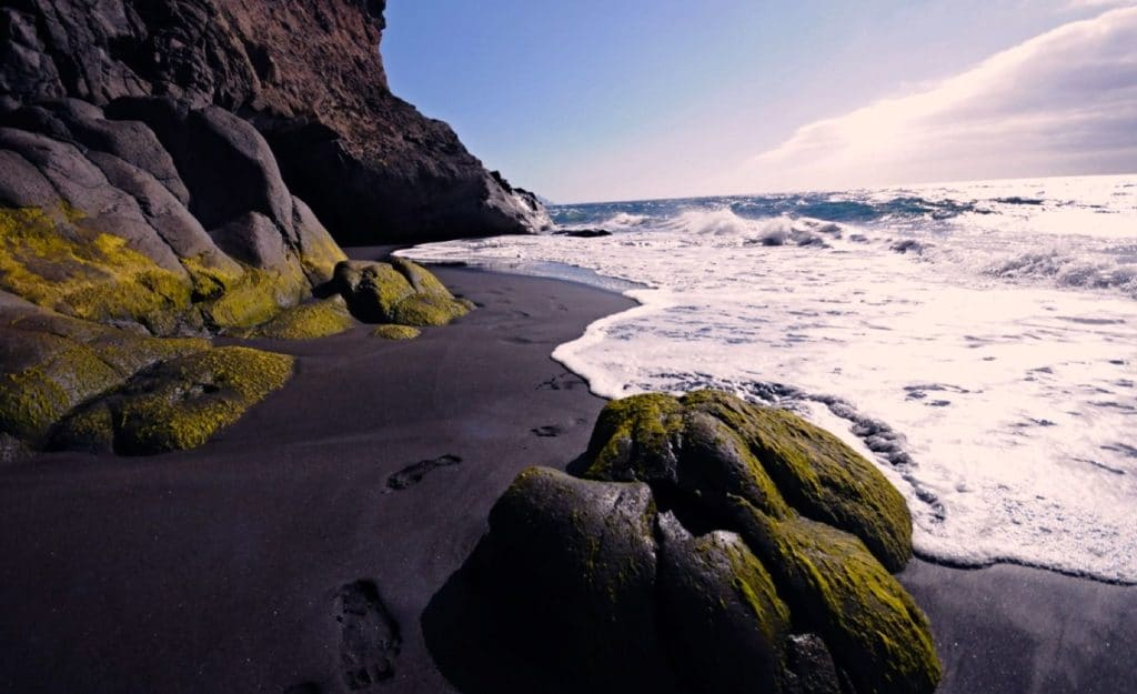 Plage nudiste à Grande Canarie, naturist beach Guayedra, FKK-Strand auf den Kanaren, playa nudista de Agaete
